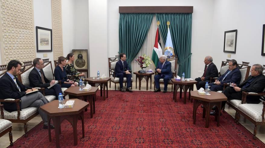 الرئيس يستقبل المفوض العام لوكالة غوث وتشغيل اللاجئين