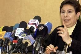 """عشراوي: تصريحات بركات حول وقف أنشطة"""" الأونروا"""" استهانة بالنظام الدولي"""
