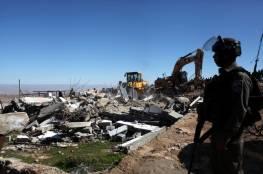 الاحتلال يهدم مسكنا في خربة أم المراجم جنوب نابلس