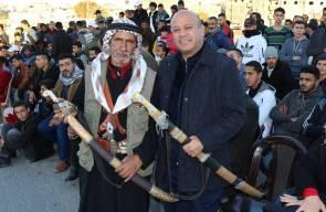 الدكتور احمد ابو هولي عضو اللجنة التنفيذية للمنظمة رئيس دائرة شؤون اللاجئين يفتتح مهرجان أحياء التراث الفلسطيني في مخيم النصيرات  يوم الجمعة الموافق 18/1/2019