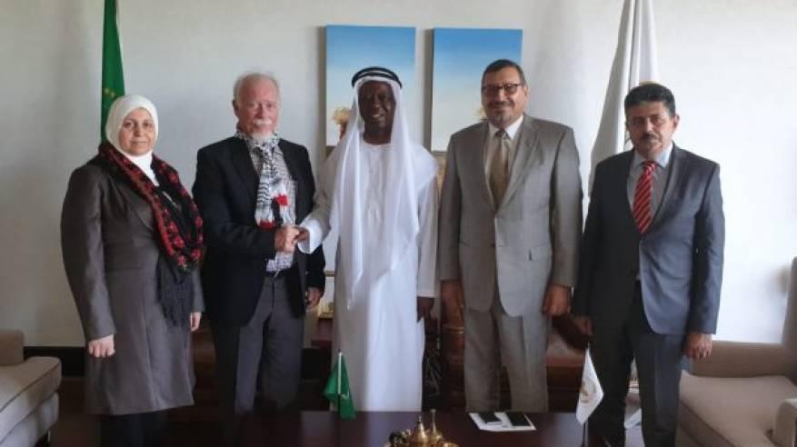 المستشار رحال يبحث مع وزير ليبي الصعوبات التي تواجه أبناء الجالية الفلسطينية
