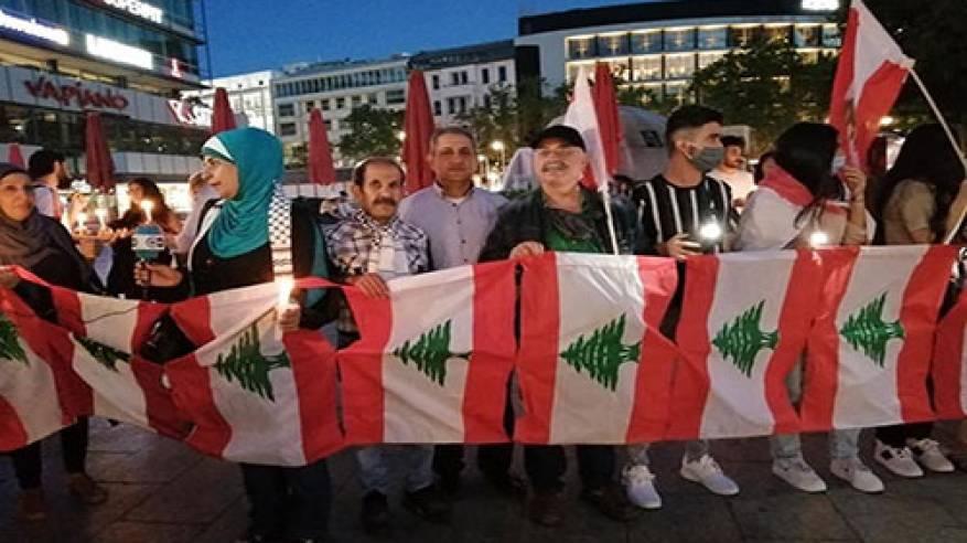 الجاليات الفلسطينية في أوروبا تتضامن مع لبنان إثر كارثة انفجار مرفأ بيروت