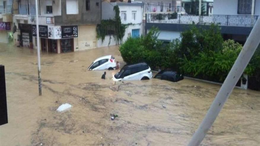 ارتفاع عدد ضحايا الفيضانات في ولاية نابل التونسية إلى 5 أشخاص