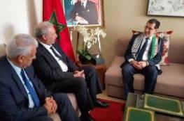 أبو عمرو يبحث مع رئيس الوزراء المغربي آخر تطورات القضية الفلسطينية