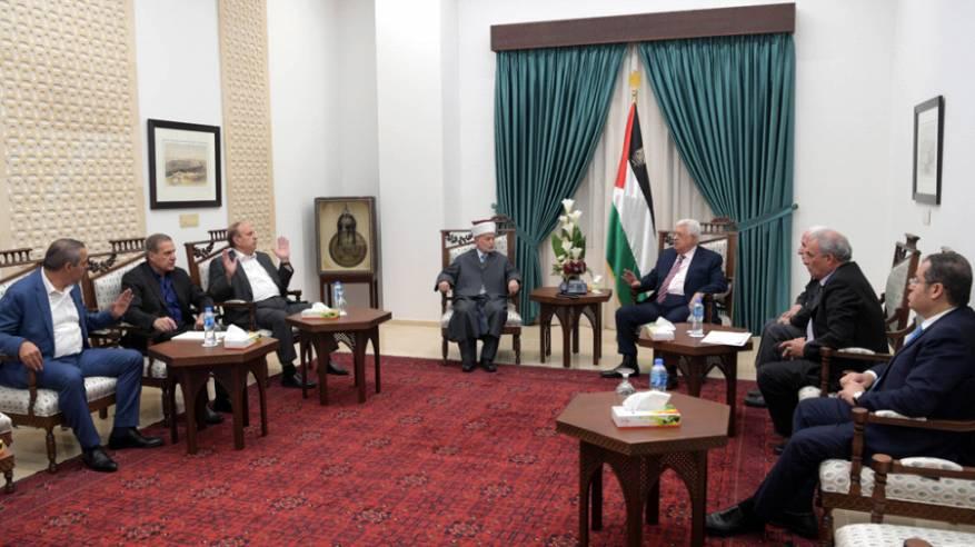الرئيس يترأس اجتماعا عاجلا لمتابعة الأحداث الجارية في المسجد الأقصى