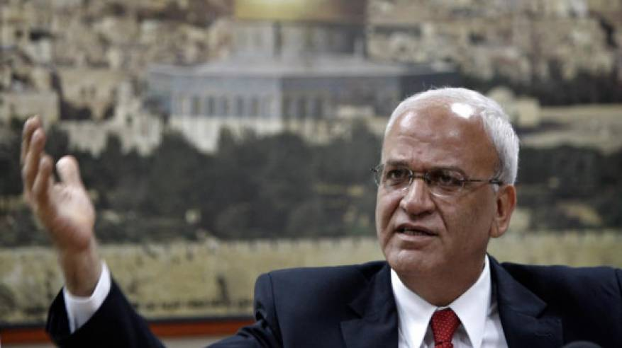 عريقات: التطبيع مع إسرائيل طعنة في الظهر