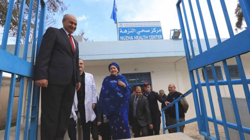 عمان: نائب الأمين العام للأمم المتحدة تتفقد منشآت للأونروا