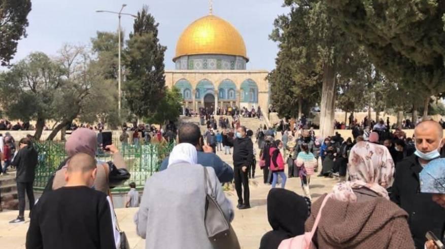القدس: أكثر من 50 ألفا يحييون ذكرى الإسراء والمعراج في