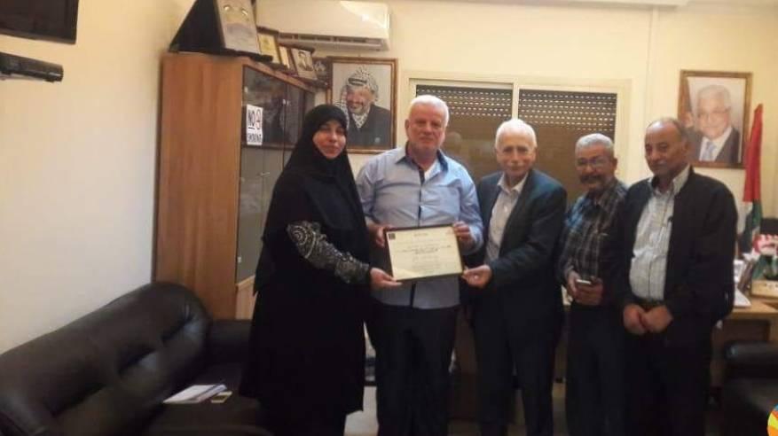 أبو العردات يستقبل وفد من منظمة همسة سماء للثقافة الدولية