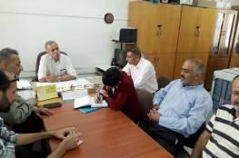 اللجنة الشعبية للاجئين بالبريج خلال زيارات تفقدية لمدارس الاونروا بالمخيم