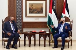 شكري عقب لقائه الرئيس: دعم مصر لفلسطين بقيادة الرئيس عباس أمر حتمي نحرص عليه