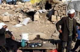 الاحتلال يطرد أربع عائلات شرق طوباس بحجة التدريبات