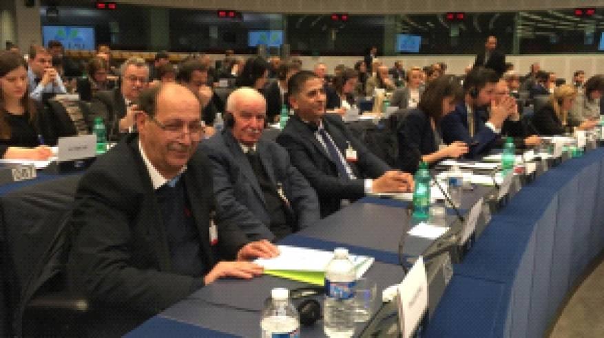 وفد المجلس الوطني يستعرض معاناة اللاجئين الفلسطينيين امام الجمعية البرلمانية للاتحاد من أجل المتوسط