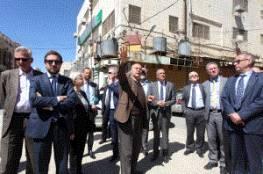 ممثل الاتحاد الأوروبي ودبلوماسيون يطلعون على الأوضاع العامة في محافظة الخليل