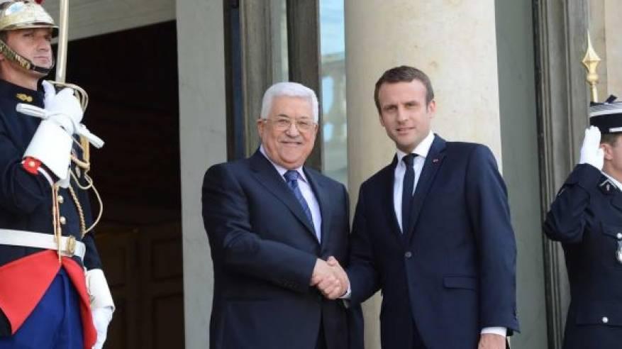 الرئيس عقب لقائه نظيره الفرنسي: لم نرفض المفاوضات والجانب الاسرائيلي هو من أفشلها