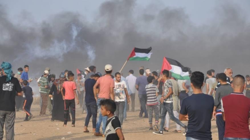 إصابات بالرصاص الحي والاختناق جراء قمع الاحتلال المسيرات السلمية شرق القطاع