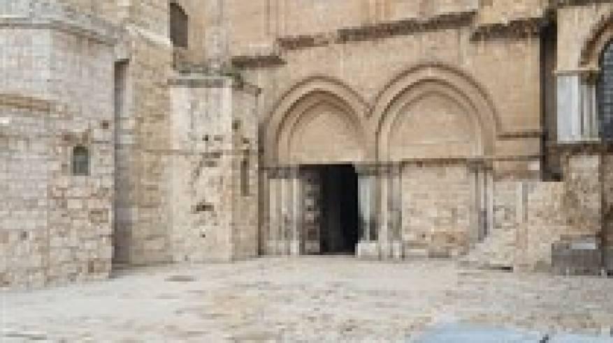 تفاصيل اغلاق كنيسة القيامة