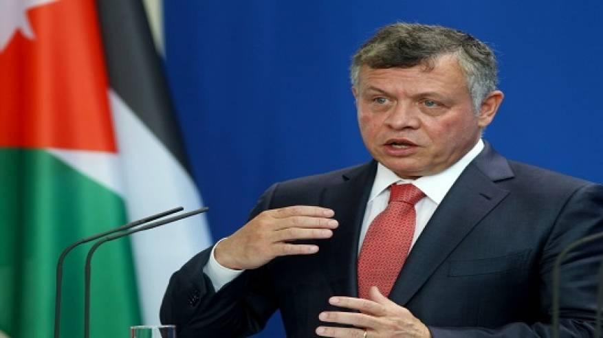 العاهل الأردني يؤكد موقف بلاده الثابت والواضح من القضية الفلسطينية