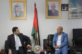 د. ابو هولي يستقبل السفير الأردني ويشيد بموقف الأردن الداعم للقضية الفلسطينية