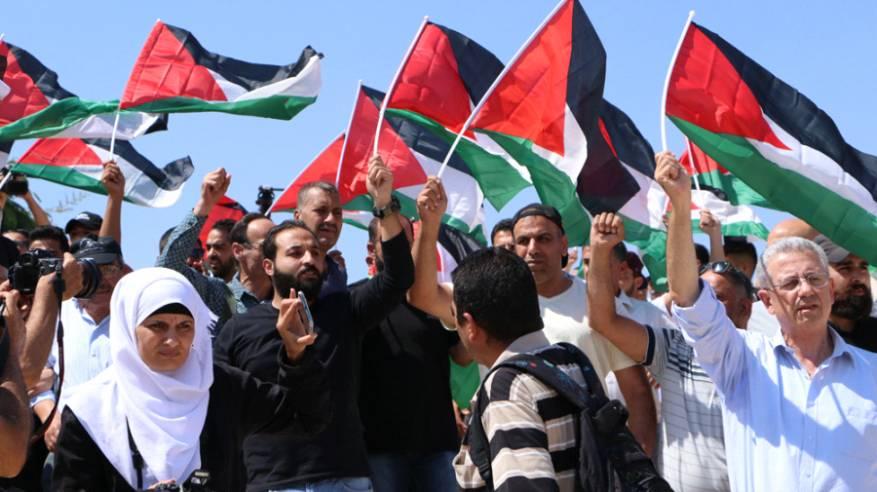 مسيرة في الخان الاحمر تنديدا بقرار الاحتلال هدم القرية