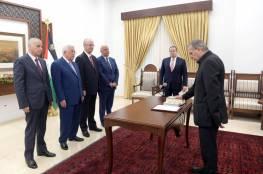أبو ردينة يؤدي اليمين القانوية أمام الرئيس نائبا لرئيس الوزراء ووزيرا للإعلام