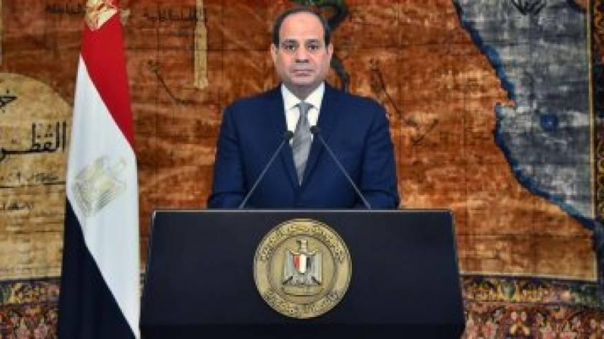 السيسي: حل القضية الفلسطينية وفق ثوابت المرجعيات الدولية يفتح آفاقاً جديدة للسلام والتنمية