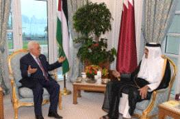 الرئيس يلتقي أمير قطر