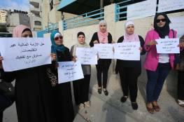 """وقفة احتجاجية في نابلس رفضا لإنهاء خدمات مئات العاملين في """"الأونروا"""""""
