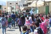 مسيرة طلابية في مخيم الفارعة دعما للرئيس عباس