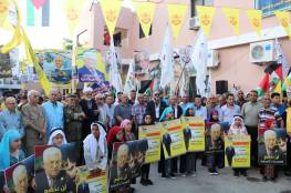 مسيرات دعم وتأييد للرئيس محمود عباس في مخيمات لبنان