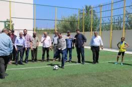 افتتاح ملعب مخيَّم البص للاجئين الفلسطينيين في لبنان