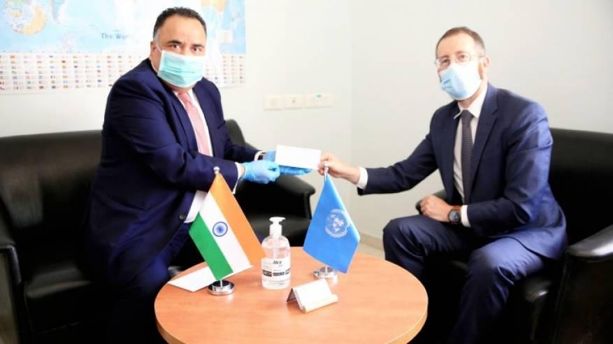 الهند تقدم 2 مليون دولار للأونروا