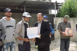 اللجنة الشعبية للاجئين في مخيم النصيرات تكرم العشرات من العمال في ايدهم الاول من ايار