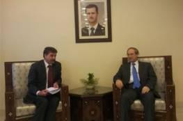 عبد الهادي يبحث مع نائب وزير الخارجية السوري آخر التطورات الفلسطينية وأوضاع المخيمات