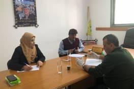 اللجنة الشعبية للاجئين بالنصيرات تبحث مع منسق ممثل برنامج Action Aid مواجهة فيروس كورونا