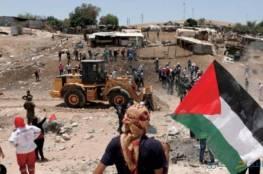 انتهاء مهلة الاحتلال لأهالي الخان الأحمر لإخلاء وهدم منازلهم ذاتيا