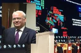 في منتدى دولي بطنجة: عريقات يثمن مواقف المغرب الشجاعة إزاء القضية الفلسطينية