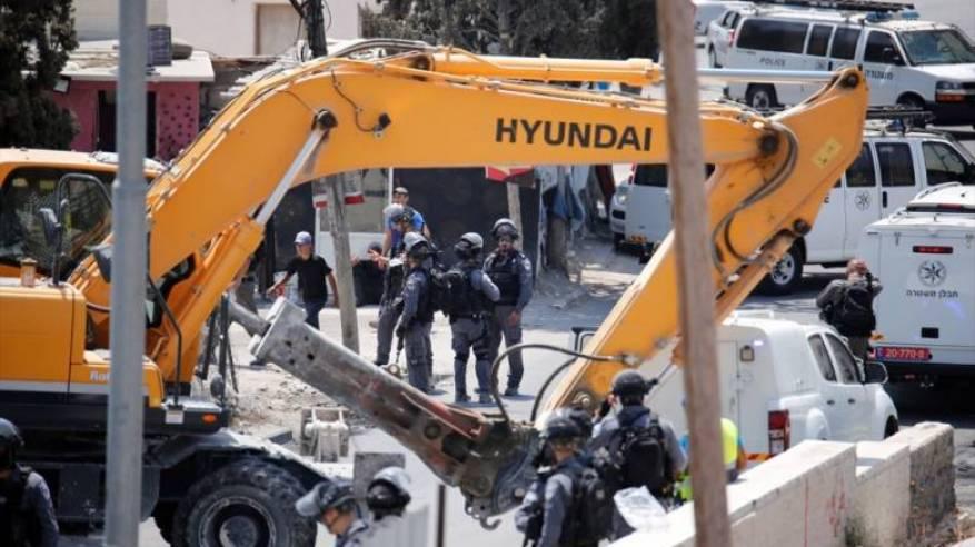 القدس:اعتداء على مواطنين خلال هدم الاحتلال منشأة في سلوان
