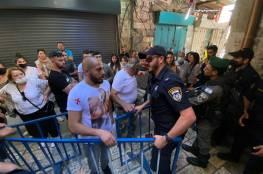 الاحتلال يواصل انتهاكاته: الاعتداء على المسيحيين المحتفلين بسبت النور بالقدس واصابات خلال قمع مسيرة كفر قدوم