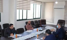 صورة ارشيفية لقاء يجمع ابو هولي مع المفوض العام للأونروا