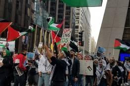 """مظاهرة في شيكاغو رفضا لنقل البؤرة الاستيطانية """"السفارة الأميركية"""" إلى القدس"""