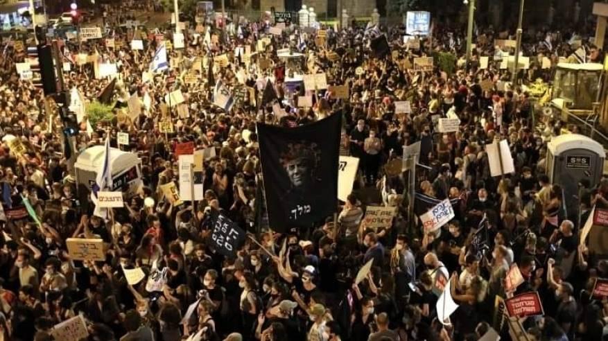 للأسبوع الـ27.. مظاهرات حاشدة في إٍسرائيلي للمطالبة بإسقاط ومحاكمة نتنياهو