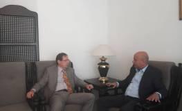 لقاء رئيس دائرة شؤون اللاجئين مع السفيرالروسي