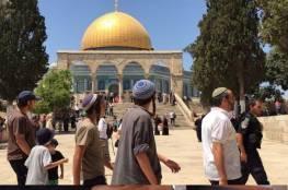 مستوطنون يقتحمون المسجد الأقصى وعلى رأسهم وزير الزراعة الإسرائيلي