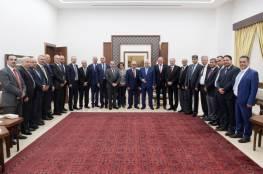 الرئيس يستقبل وفد رجال الأعمال الفلسطينيين