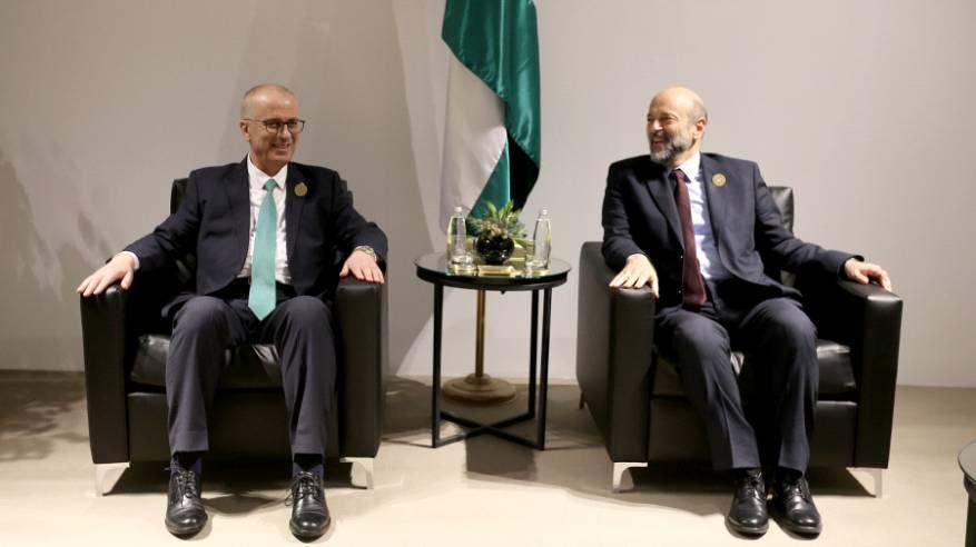 الحمد الله يلتقي نظيره الأردني ووزير الخارجية العراقي كلا على حدة