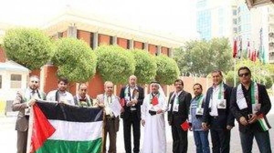 الجالية الفلسطينية في البحرين تجدد البيعة ووقوفها خلف الرئيس
