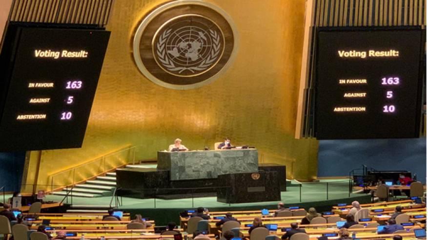 التصويت على قرار أممي يؤيد حق الشعب الفلسطيني في تقرير المصير