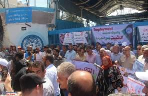 الاعتصام الجماهيري الحاشد الذي نظمته اللجان الشعبية (م.ت.ف) في مخيمات قطاع غزة ضد تقليصات وكالة الغوث - الاحد 29/7/2018