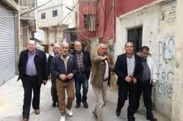 اللجنة التنظيمية للجان الشعبية تلتقي اللجنة الشعبية في مخيم المية ومية وتجول في احياءه